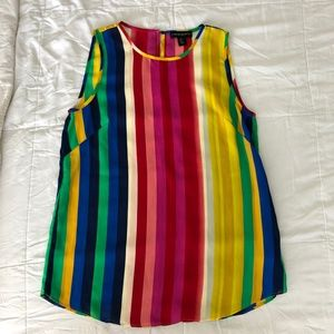 Cynthia Rowley Rainbow Sleeveless Top S